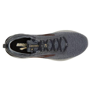 BROOKS LEVITATE 2 LE RUNNING SHOES FOR MEN Black Grey Gold