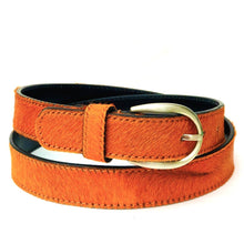 Load image into Gallery viewer, Neon Cowhide Belt - Orange