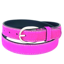 Load image into Gallery viewer, Neon Cowhide Belt - Pink