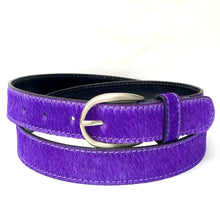 Load image into Gallery viewer, Neon Cowhide Belt - Purple