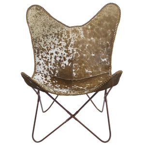 Butterfly Chair – Brown & White