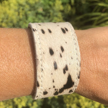 Load image into Gallery viewer, Cowhide Cuff Bracelet - Cow