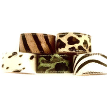 Load image into Gallery viewer, Cowhide Cuff Bracelet - Animal Print - Leopard