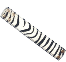 Load image into Gallery viewer, Cowhide Cuff Bracelet - Animal Print - Zebra
