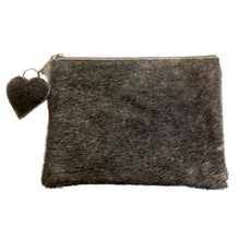 Load image into Gallery viewer, Cowhide Clutch - Medium - Grey