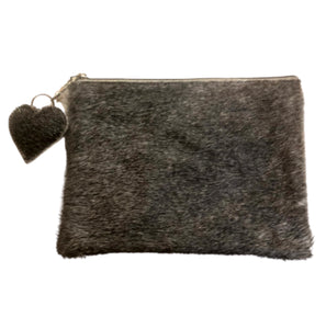 Cowhide Clutch - Medium - Grey