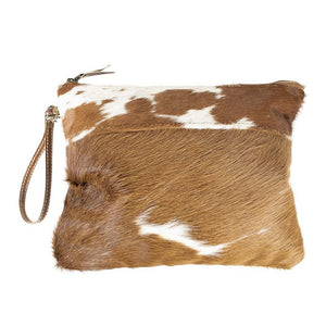 Large Gaucho Clutch  - Brown & White