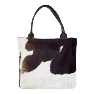 Gaucho Shopper Handbag – Brown & White