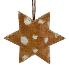Load image into Gallery viewer, Star Cowhide Hanging Decoration - Deer Print