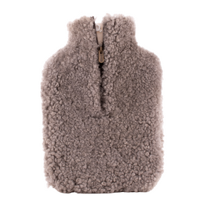 Sheepskin Hot Water Bottle Cover - Stone