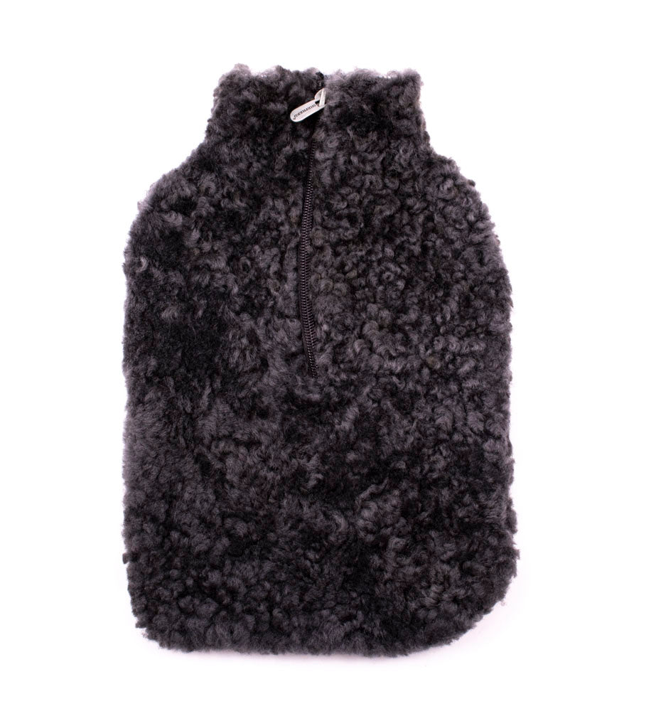 Sheepskin Hot Water Bottle Cover - Carbon