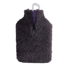 Load image into Gallery viewer, Sheepskin Hot Water Bottle Cover - Carbon