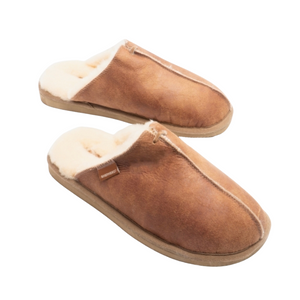 Sheepskin Mule Slippers - Men's Antique Cognac