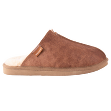 Load image into Gallery viewer, Sheepskin Mule Slippers - Men's Antique Cognac