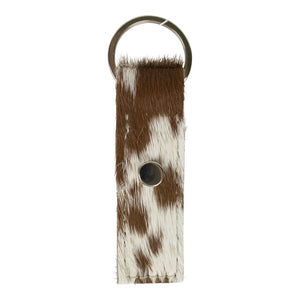 Key Fob – Brown & White