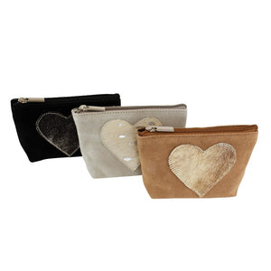Make Up Bag/Purse with Heart – Black