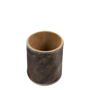 Cowhide Pencil Pot - Tricolour / Brindle