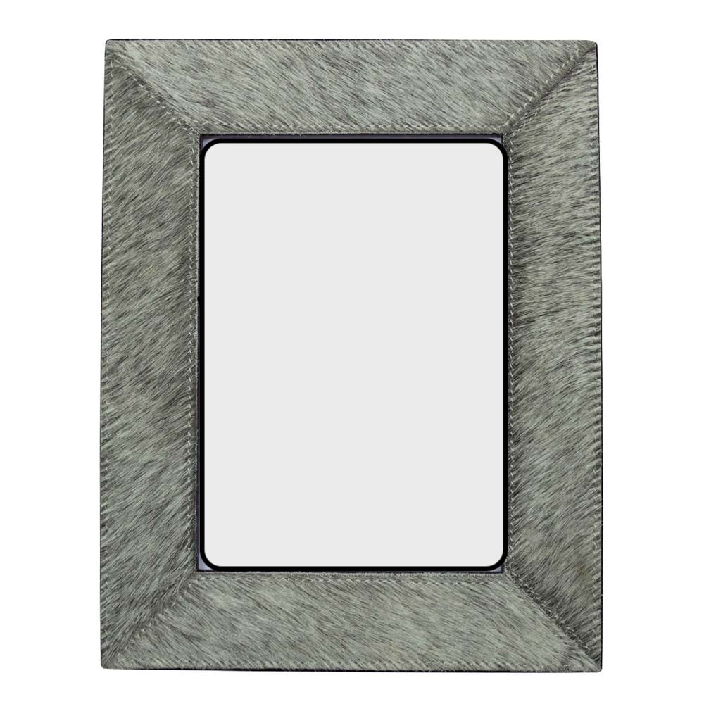 Cowhide Photo Frame – Grey