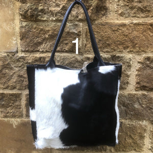 Gaucho Shopper Handbag – Black & White