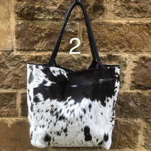 Load image into Gallery viewer, Gaucho Shopper Handbag – Black & White