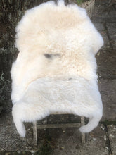 Load image into Gallery viewer, Icelandic Sheepskin Rug - Shaved - Cream + Black Centre Spot