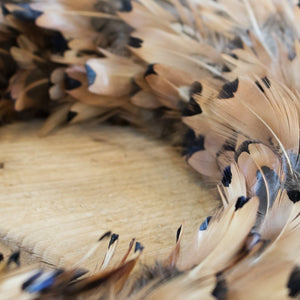 Feather Wreath – Pheasant Almond - 38cm