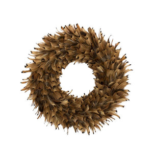 Feather Wreath – Pheasant Almond - 28cm