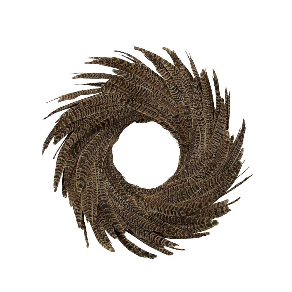 Feather Wreath – Pheasant Tail - 28cm