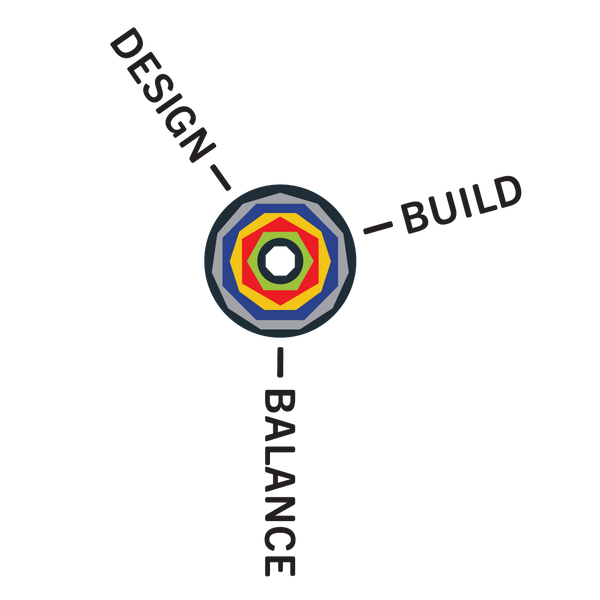 Design, Build, Balance Octacog Logo