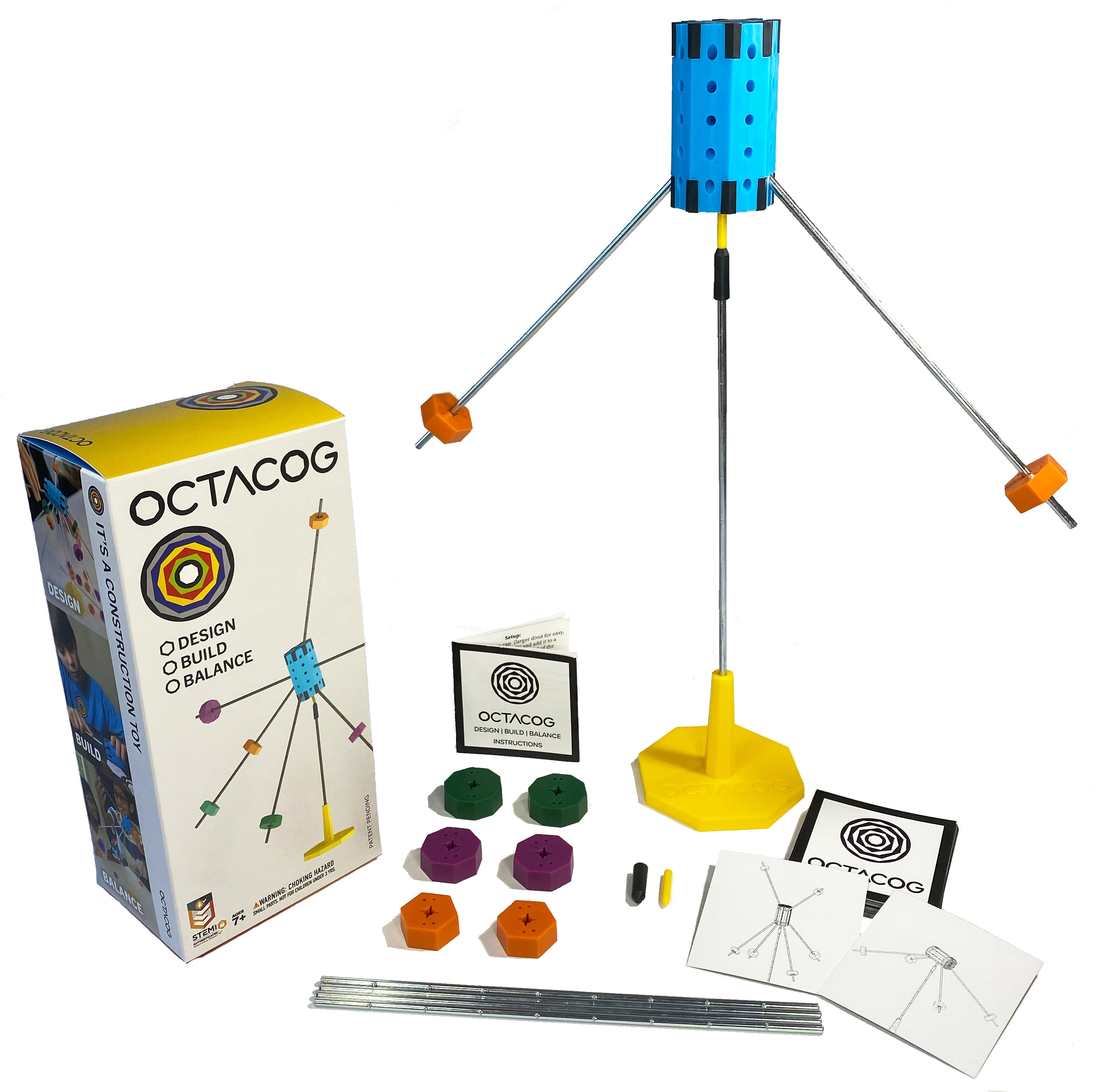 Octacog: Balance Construction Toy and Game