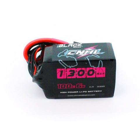 LiPo 1300mAh 6S 22.2V 100C Black Series Battery (CNHL)