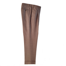 Load image into Gallery viewer, M4O Trouser - Cream/Brown Puppytooth