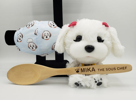 Mika the Sous Chef Gift Box with Cool Fabric Mask