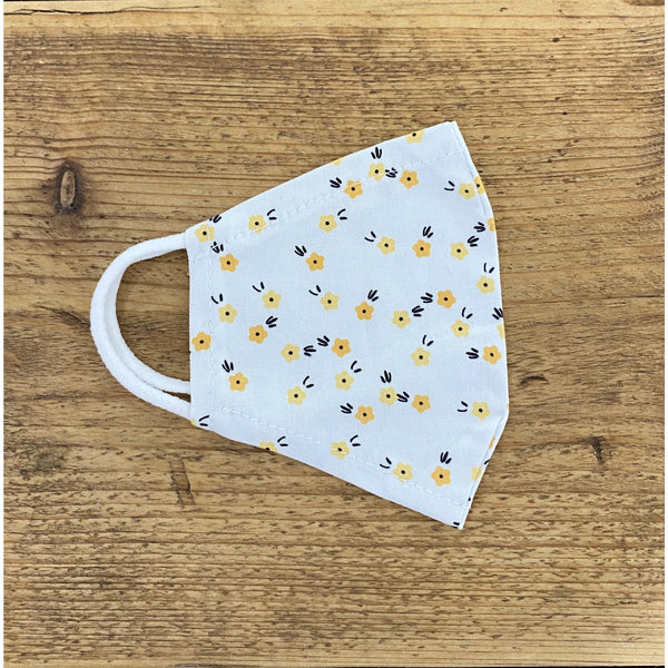 Yellow Mini Floral Reusable Face Covering