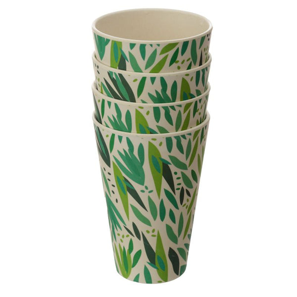 Bamboo Composite Willow Cup Set of 4 for picnics