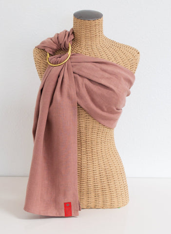 Sakura Bloom Basics Collection Linen Ring Sling-Quartz w/Gold Rings