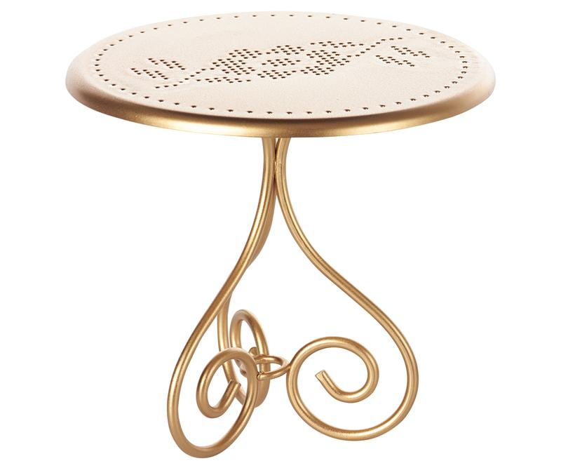 Mini Vintage Cafe Table - Gold