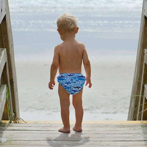 Reusable Swim Diaper - Blue Undersea