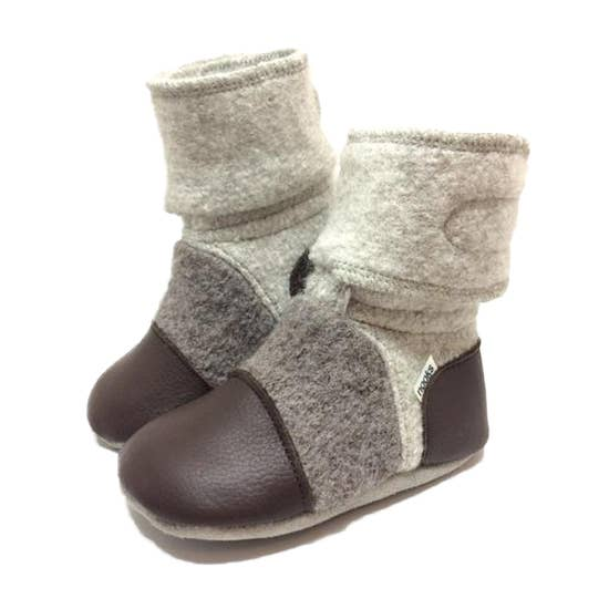 Wool Booties - Driftwood