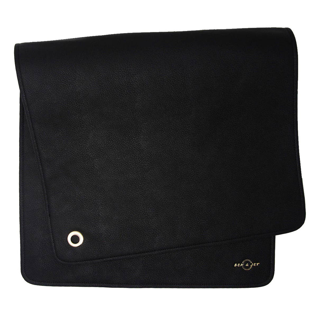 Vegan Leather Changing Mat - Black