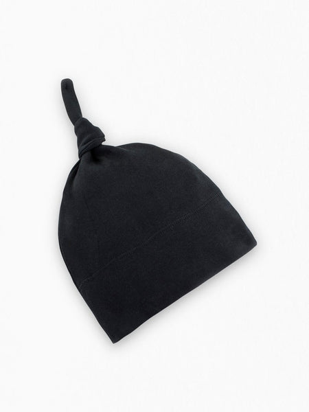 Organic Cotton Classic Knotted Hat - Black