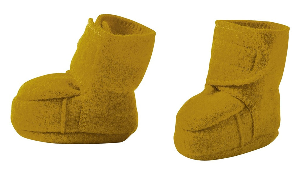 Disana Boiled Wool Booties - Gold