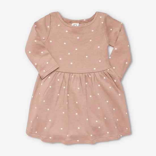 Organic Cotton Stella Swing Dress - Mini Dot