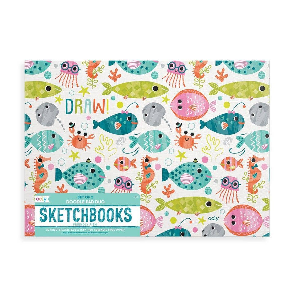 Doodle Pad Duo Sketchbooks - Friendly Fish