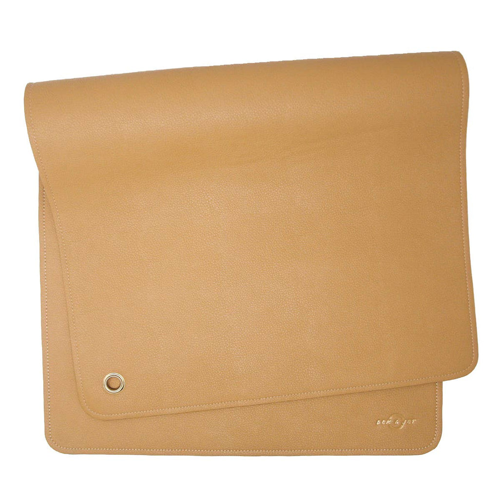 Vegan Leather Changing Mat - Tan