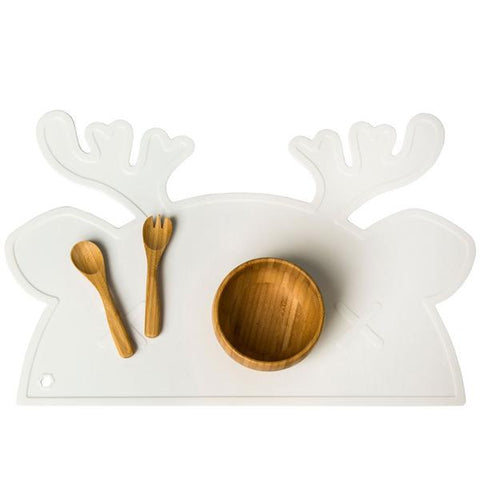 Silicone Placemat - Chief Reindeer White