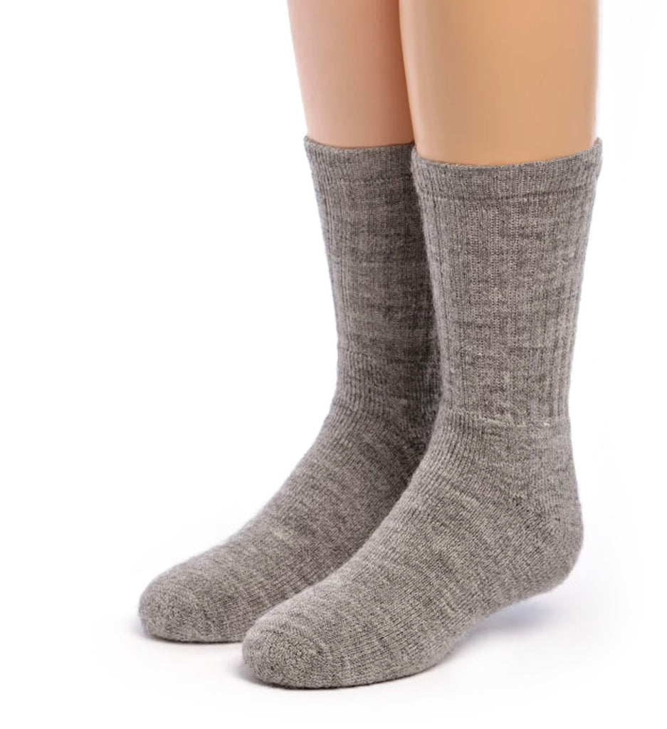 Kids Outdoor Terry Lined Alpaca Socks