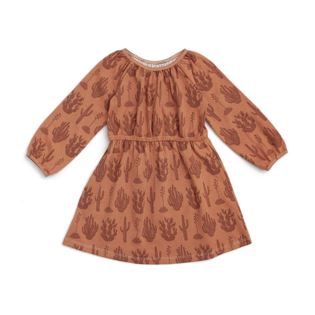 Toddler Emerson Dress - Cactus Caramel