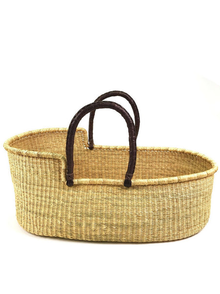 Ghana Moses Basket with Organic Cotton Futon and Fitted Sheet