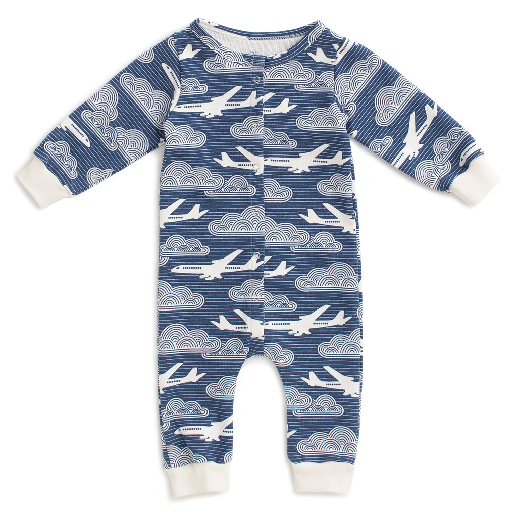Winter Water Factory French Terry Jumpsuit - In the Clouds Navy